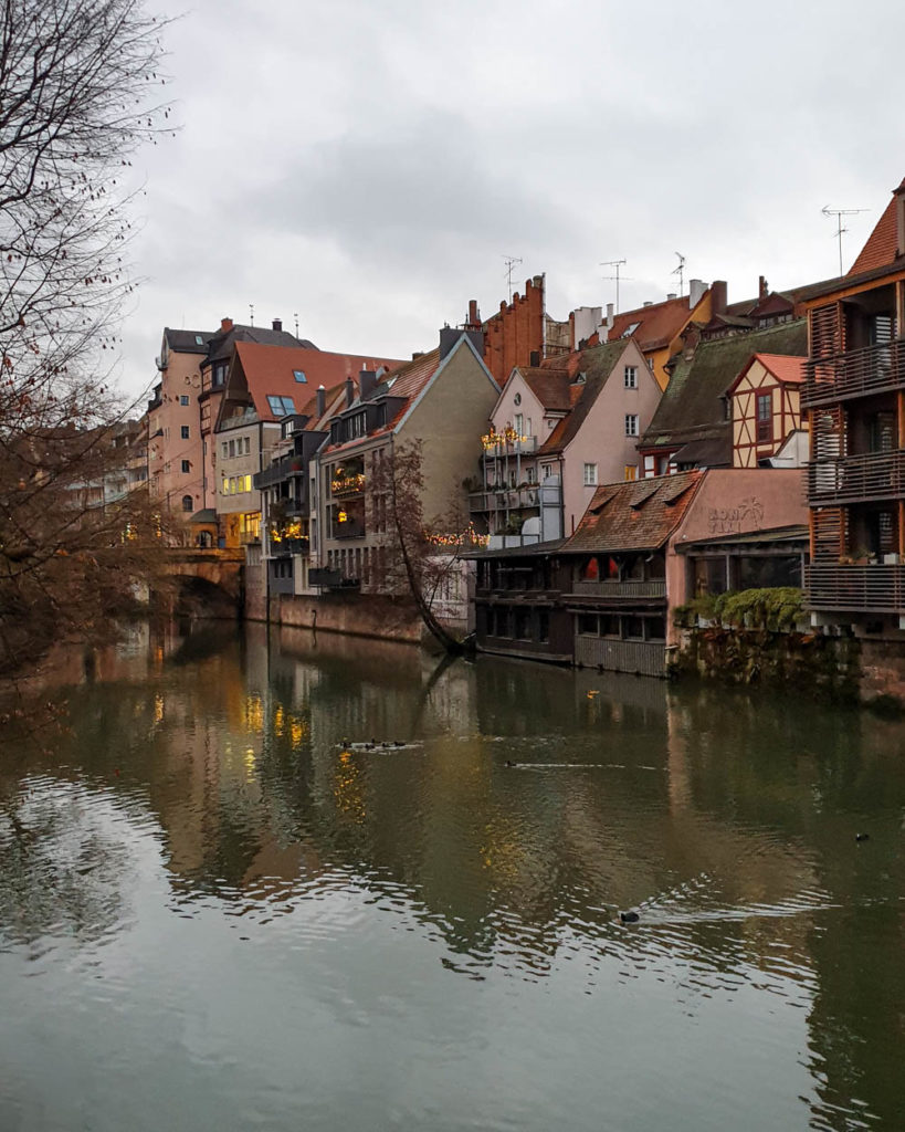 Half-timbered houses by the river