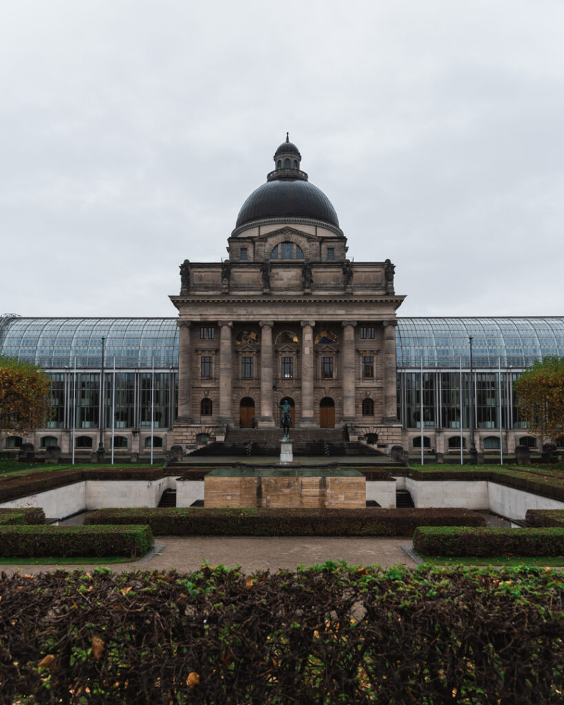 Bavarian State Chancellery from the Hofgarten during a Munich Walking Tour | Slow Travel Bavaria